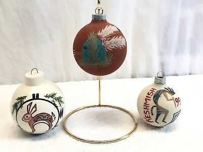 3 Hopi  Christmas Ornament  Native American