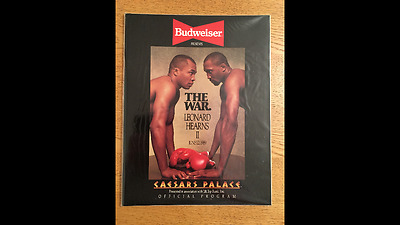 Sugar Ray Leonard v Tommy Hearns 2nd fight  official Programme  RARE