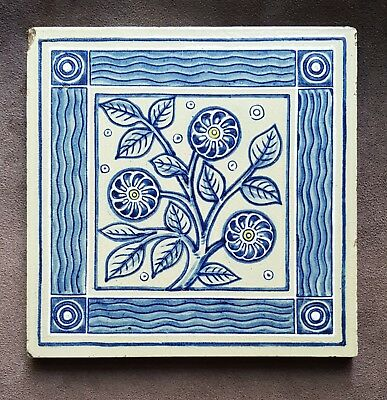 A late 19th Century English Arts & Crafts Tile in the manner of De Morgan
