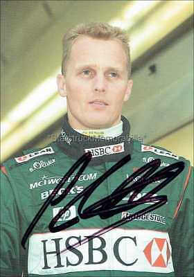 Johnny Herbert Autograph *Formula One* Hand Signed 6X4 Photocard