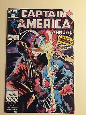 Captain America Annual 8 Marvel Comics 1986 Immaculate Condition Wolverine Zeck