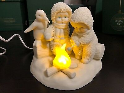 Snowbabies, Dept 56, titled You Warm My Heart, lights up
