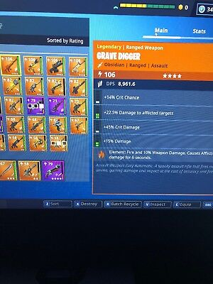 Fortnite Save The World LVL 106 Grave Digger PC/PS4/XBOX