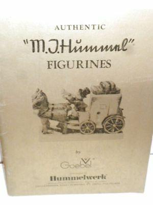 """Authentic """"M. J. Hummel"""" Figurines"""" Book Distributed by HUMMELWERK W. GERMANY"""