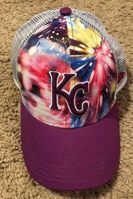 best sneakers 09a06 a6b11 Kansas City Royals MLB New Era 9Forty Pink Tie Dye Youth Snapback Hat Vented