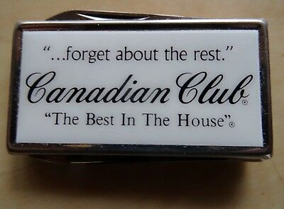 Vintage Canadian Club Whiskey Barlow Money Clip With Knife & File Rare NIB