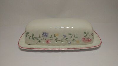 Johnson Brothers ENGLAND Summer Chintz 1/4 LB Oblong Butter Dish With Lid