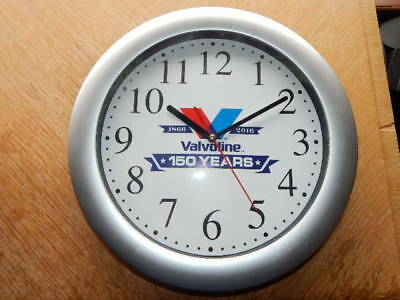 "Officially Licensed Valvoline Oil 150 Years 1866-2016 Advertising 12"" Clock RARE"