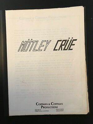 Very Rare Original Motley Crue Leathur Promo Book