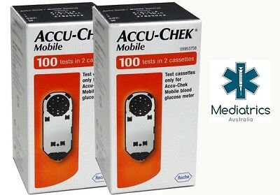 Accu Chek Mobile Test Cassettes (200 Tests in 2 Boxes)