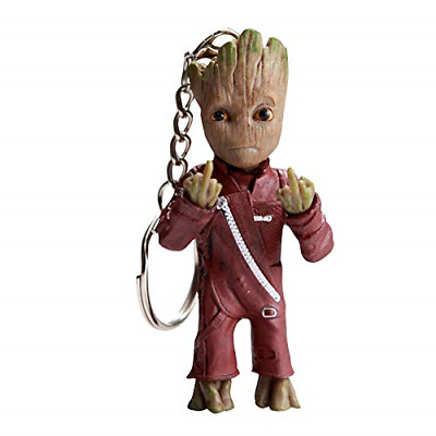 Baby Groot Keyring - Marvel action figure from Guardians of the Galaxy -...