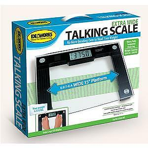 Talking Digital Scale, 15'' x 12'' x 1'' Platform, 550 lb. Weight Capacity