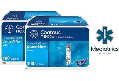 Contour Next Blood Glucose Test Strips (200 Tests in 2 Boxes)