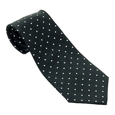 New High Quality 100% Silk Woven Rose Croix Tie with White Spots Regalia Masons