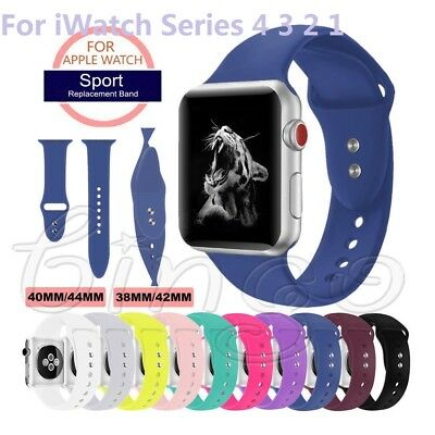 38/42/40/44mm Silicone Band Strap For Apple Watch iWatch Sports Series 4/3/2/1