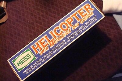 2001 HESS Helicopter with motorcycle and cruiser-NEW