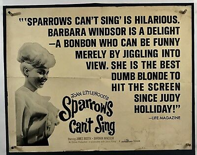 SPARROWS CANT SING Movie Poster (Poor) Half Sheet 1963 Barbara Windsor 088F