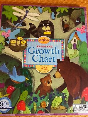 eeBoo  Keepsake  Birthday Tree growth chart up to 5ft NEW with stickers