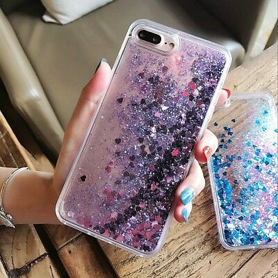 Dynamic Liquid Glitter Quicksand Clear Hard Case Cover For iPhone 7 6 6s Plus 5s