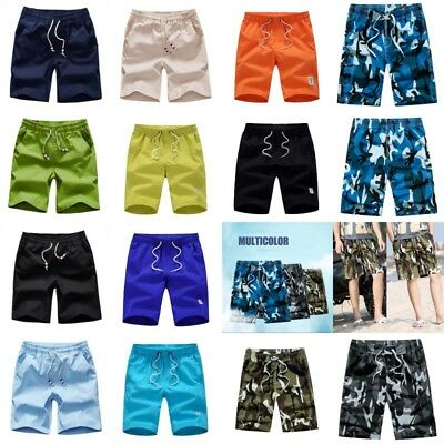 AU Mens Summer Shorts Army Camouflage Combat Pockets Casual Short Pants Trousers