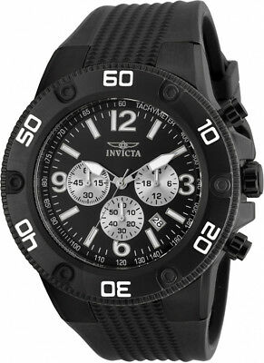 Invicta Men's Pro Diver Chrono 100m Black Stainless Steel/Silicone Watch 20274
