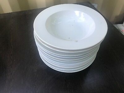 ECOLOGY Porcelain Round Deep Serving soup Plate Bowl 230mm Wide Made in China