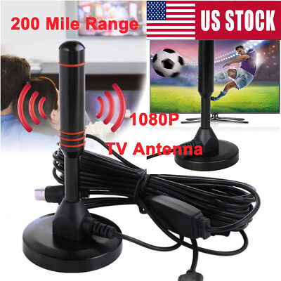 US 200 Mile Range TV Antenna Digital HD Skywire Antena Digital Indoor HDTV 1080p