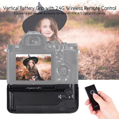 Battery Grip Replacement Vertical Battery Holder NP-FW50 for Sony A7/A7R S V3A2