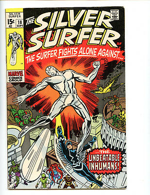 Silver Surfer 18 final issue Kirby Inhumans