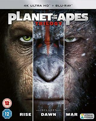 Planet of the Apes Trilogy 4K  New (Blu-ray  2018)