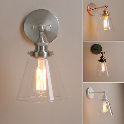 BIG SALE!Edison Industrial Vintage Wall Light Sconce Clear Glass Shade Wall Lamp
