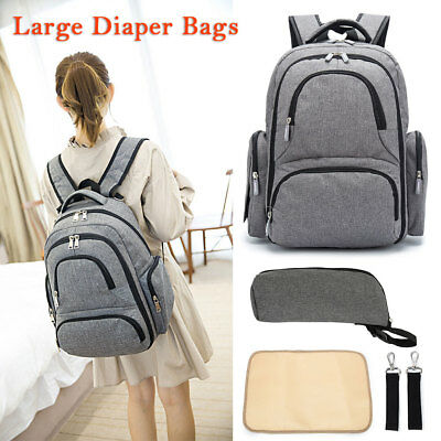 Baby Diaper Nappy Mummy Changing Bag Backpack Multi-Function Large Travel Bags