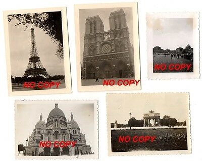 Lot de 11 photos WW2 de Paris allemand occupation