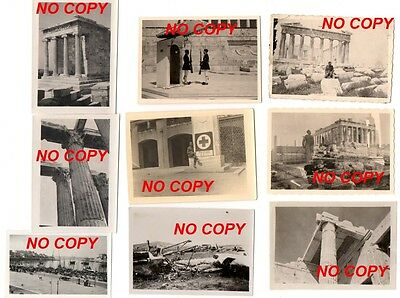 Lot de 9 photos WW2 Athènes acropole allemand