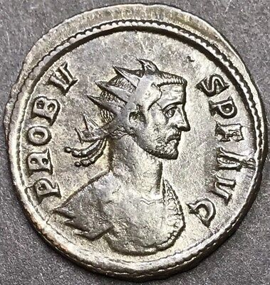 Superb Probus Ae Silvered Antoninianus Ancient Roman Imperial Coin.