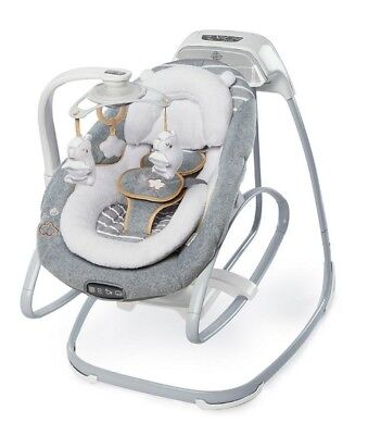 New Ingenuity Boutique Collection Rocker And Swing In Bella Teddy Rrp $399