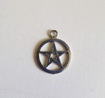 Pentacle Pewter Pendant for Necklace or Earring | Celtic Gothic Pagan Wiccan