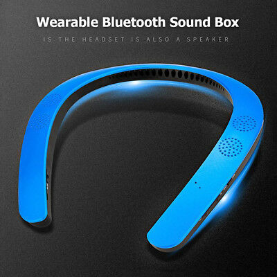 Portable Wireless Stereo Wearable Neck Bluetooth Speaker Sports Music Mp3 Player