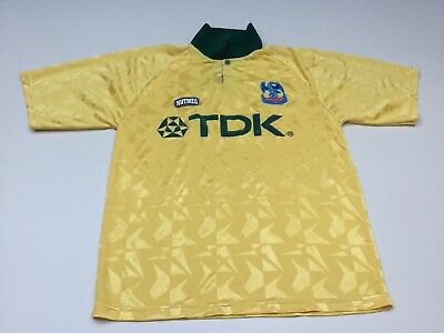 RARE CRYSTAL PALACE 94 95 Away Football Shirt (M) TDK NUTMEG Yellow ... 1a0614700