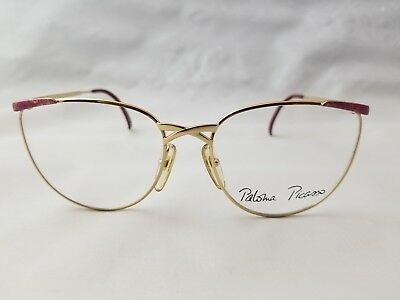 Vintage Paloma Picasso 3792 43 Gold Multi-Color Optical Frame Made In Austria