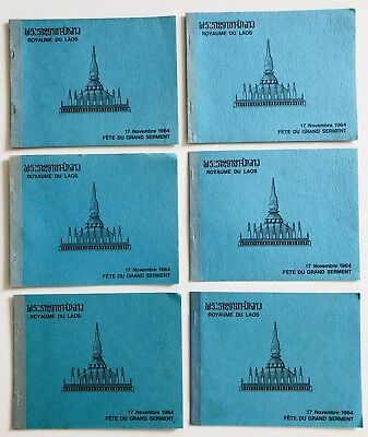 Laos Lao Indochina 6 Booklet MNH Complete France Very Fine 1964
