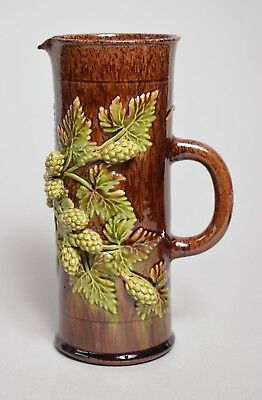 A Very Attractive Large Antique 19Thc Rye Sussex Pottery Tall Pitcher Jug
