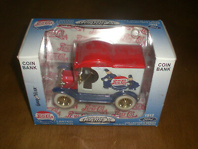Pepsi Cola Coin Bank 1:24 Scale Diecast 1912 Ford Truck