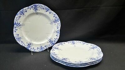 Shelley  Dainty Blue - Set of 4 Dinner Plates England Bone China