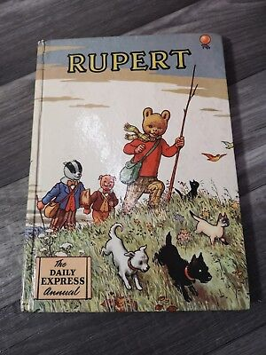 Rupert Daily Express Annual 1955 Collectable Children's Book Golden Age