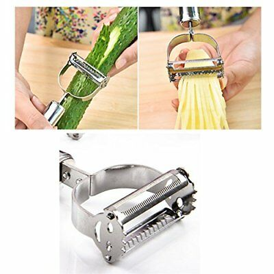 Vegetable Peeler Sharp Stainless Steel Dual Julienne titan potato Peeler, Grater