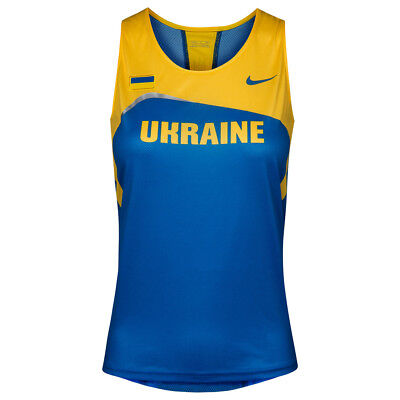 Ukraine Nike Race Singlet Damen Training Leichathletik Fan Trikot 713704-460 neu