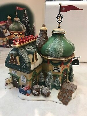 Dept 56 North Pole Series - Cold Care Clinic #56703 - Retired After 1 Year