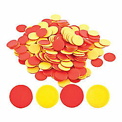 CleverCo Red & Yellow Counters Set of 200