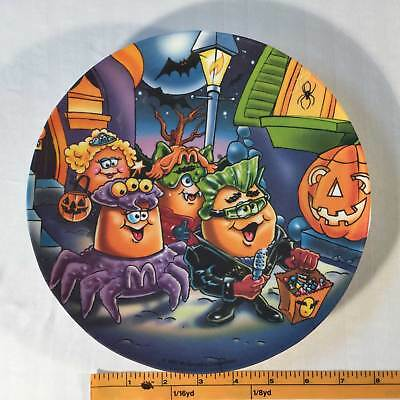 McDonalds  Plate Plastic 1997 Halloween McNuggets Costumes Purple Blue 9 Inches